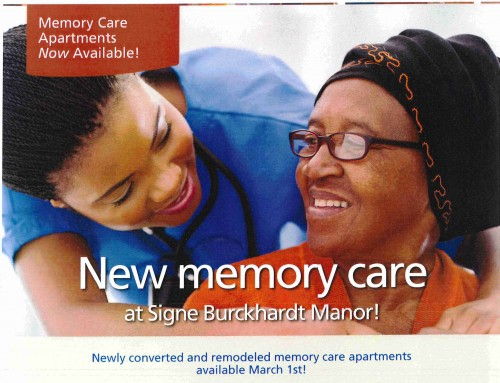 Memory Care Apartments Now Available!